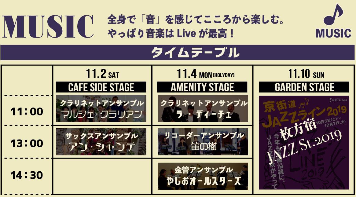 11月2日・11月4日・11月10日MusicLiveタイムテーブル